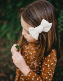 Ice-Cream Days Waffle Bow Headband or Clip - Vanilla Bean
