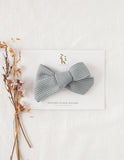 Ice-Cream Days Waffle Bow Headband or Clip - Seafoam