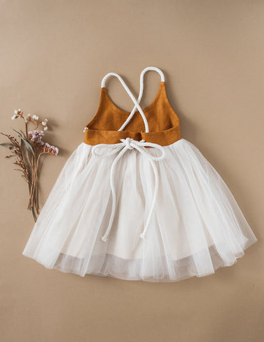 Willa Linen Reversible Tutu Dress - Woodland