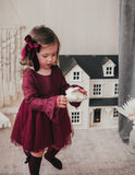 Ever After Linen Tutu Dress - Plum
