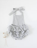 Peppa Ruffle Bottom Cotton Playsuit - Sky
