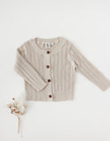 Penny Light Cotton Knit Cardigan - Fawn