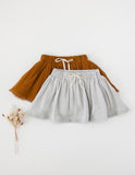 Dance and Play Muslin Skirt with Trim - Antique Gold