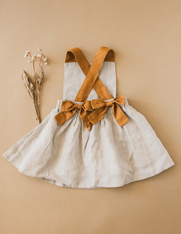 Karolina Linen Pinafore Dress