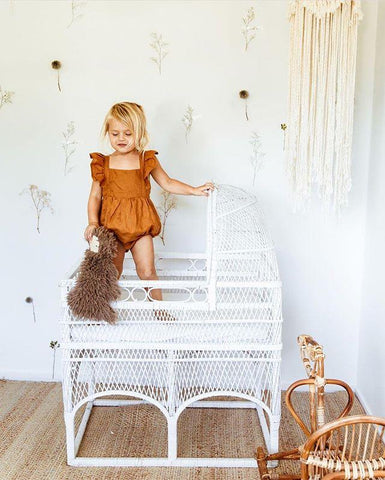 Linen Playsuit for Little Girls