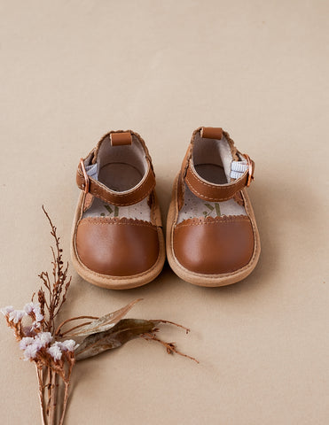 Kora Genuine Leather Sandals - Chestnut
