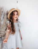 Little Angel Cotton and Lace Dress - Sky