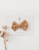 Melodie Tawny Floral Cotton Bow