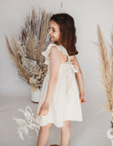 My Little Sunshine Linen Dress - Ivory