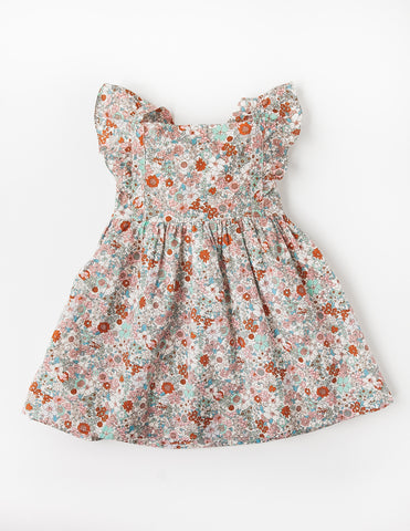 My Little Sunshine Cotton Dress - Floral Magic