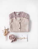 Penny Light Cotton Knit Cardigan - Dusty Rose