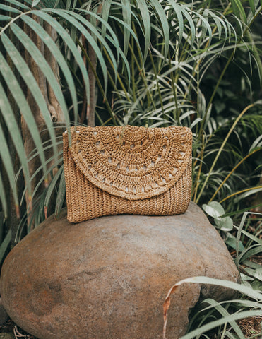 Boho Soul Raffia Woven Ladies Clutch Bag