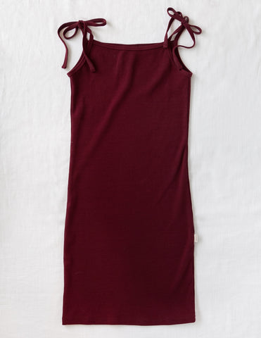 Sienna Cotton Seaside Ladies Dress in Plum