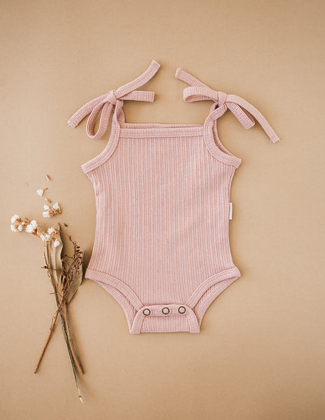 Sienna Cotton Sunsuit - Soft Pink