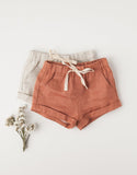 Lucy Girls Linen Shorts - Sunkiss
