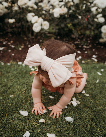 Organic Cotton Baby Topknot Headwrap - Sweet Peach