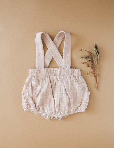 Mischa Cotton Suspender Bloomers - Fawn
