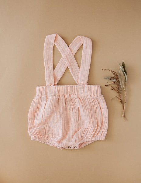 Mischa Cotton Suspender Bloomers - Candy