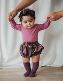 Ella Velour Bloomers - Thistle