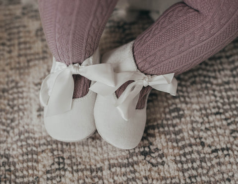 Victoria Velvet Baby Mary Jane Shoes - Pearl