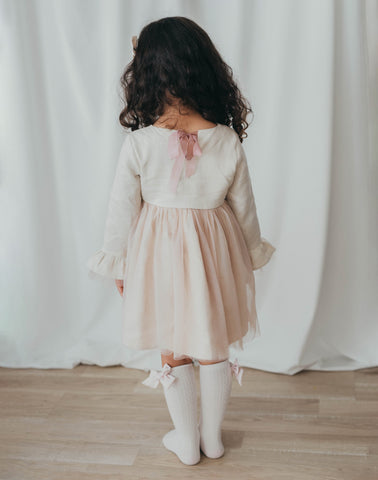 Ever After Linen Tutu Dress - Ivory Blush