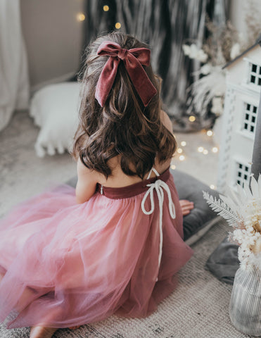 Willa Linen Tutu Dress - Rosebud