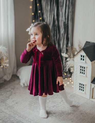Ellie Velour Dress - Sugarplum