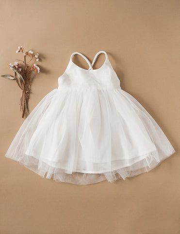 Willa Linen Tutu Dress - White Magic