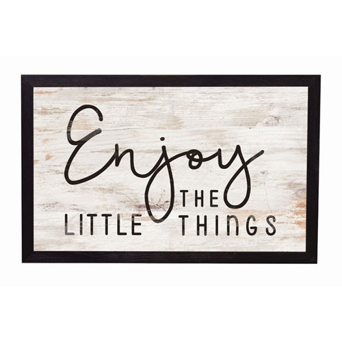 Enjoy the little things frame