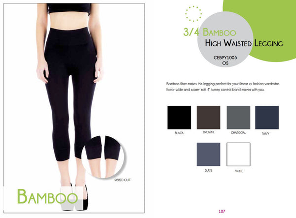 3/4 high waisted leggings