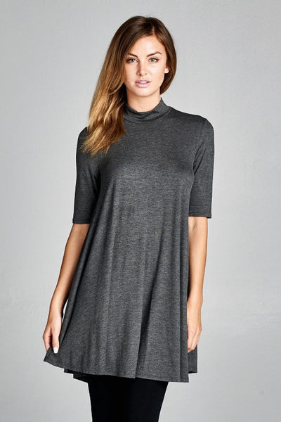 mock turtleneck tunic