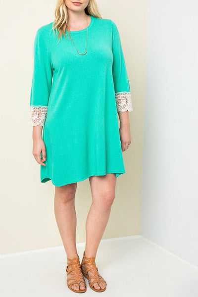 Plus-Size Bell Sleeve Sweater Dress