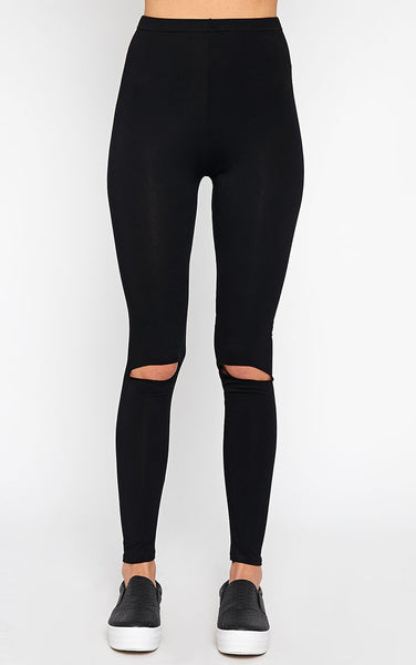 split knee bamboo leggings