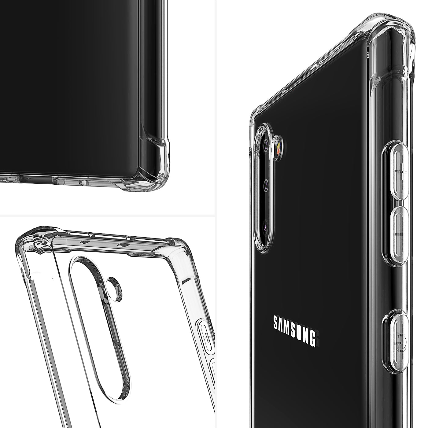 Samsung Galaxy Note 10 Plus Case Clear Heavy Duty Shockproof Slim Cover