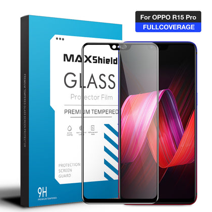 OPPO R15 Pro Screen Protector, Maxshield 3D FullCoverage Tempered Glass
