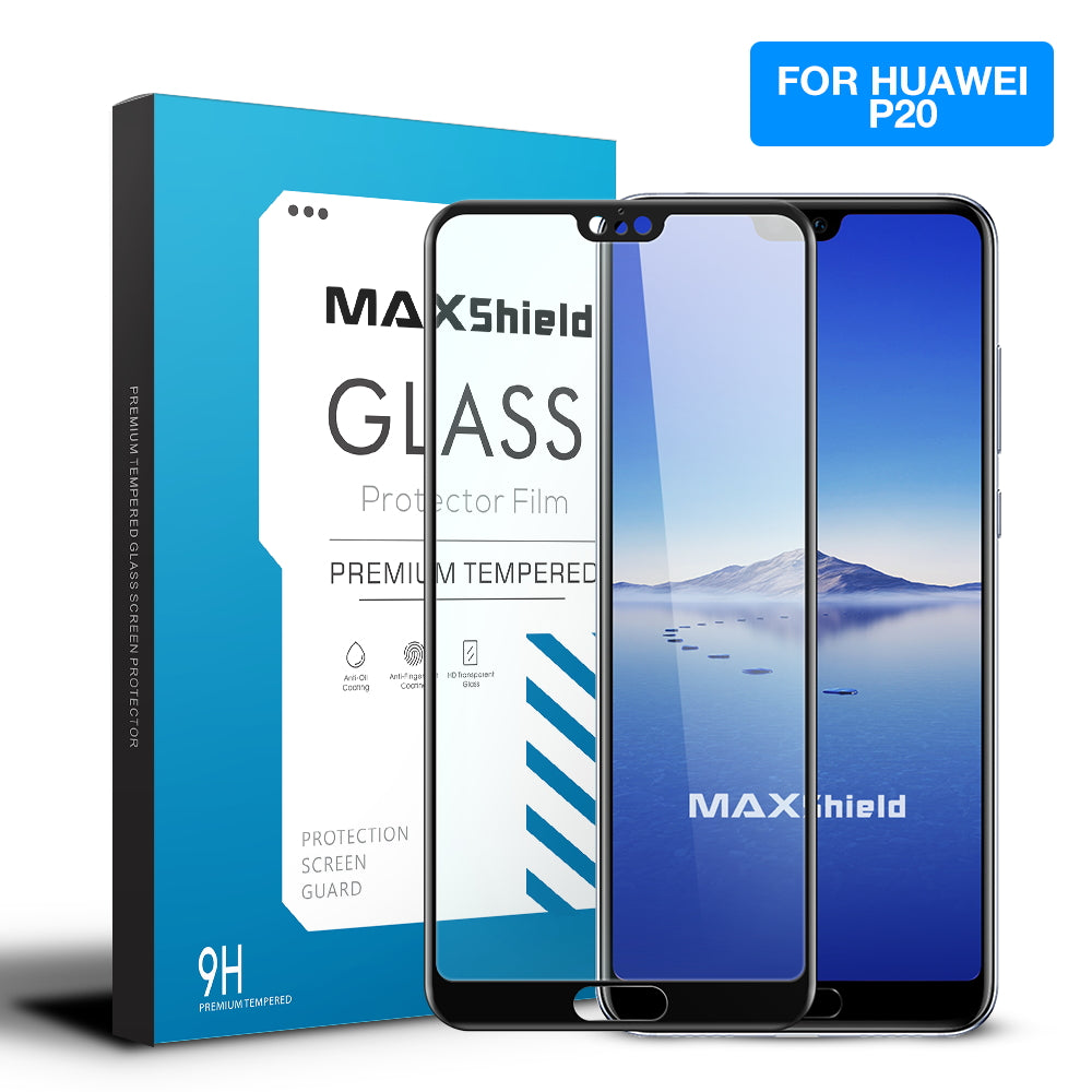 Maxshield 3D Full Coverage Tempered Glass Screen Protector For Huawei P20