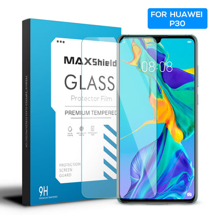 MAXSHIELD Huawei P30 Full Adhesion Tempered Glass Screen Protector Case Friendly