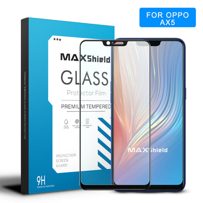 OPPO AX5 Screen Protector, Maxshield 3D FullCoverage Tempered Glass