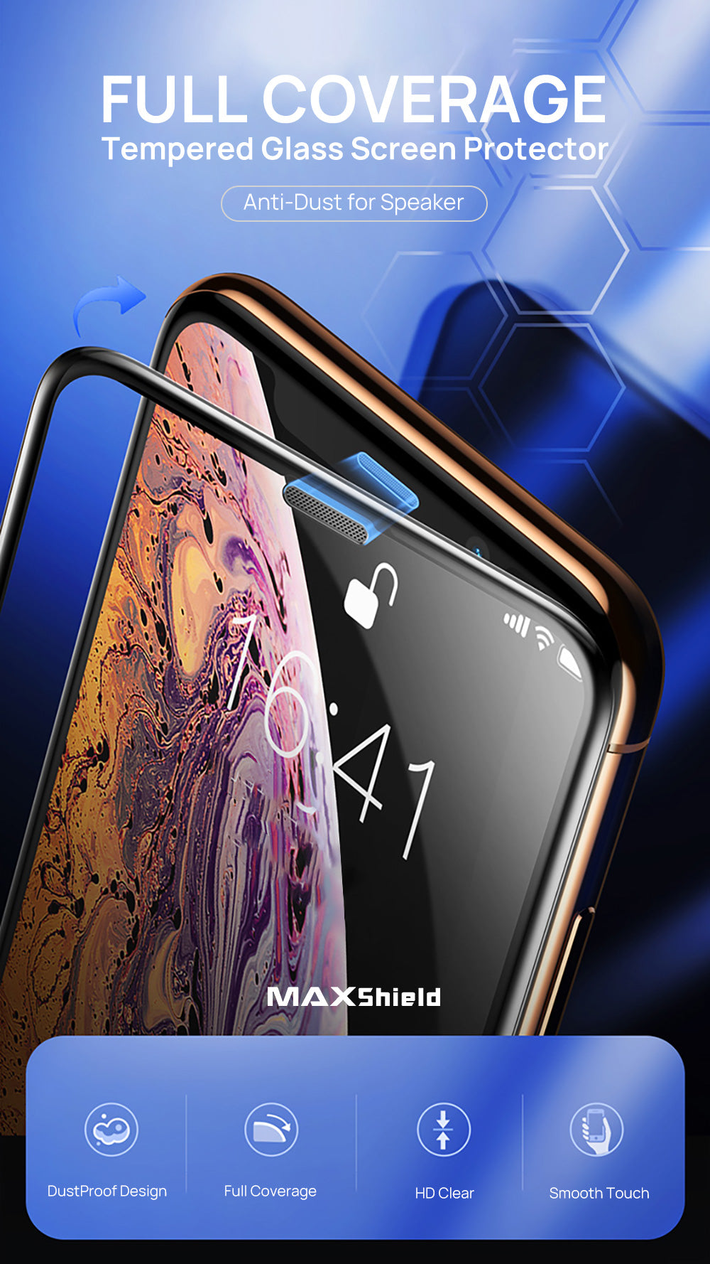 iPhone XR Full Coverage Tempered Glass Screen Protector