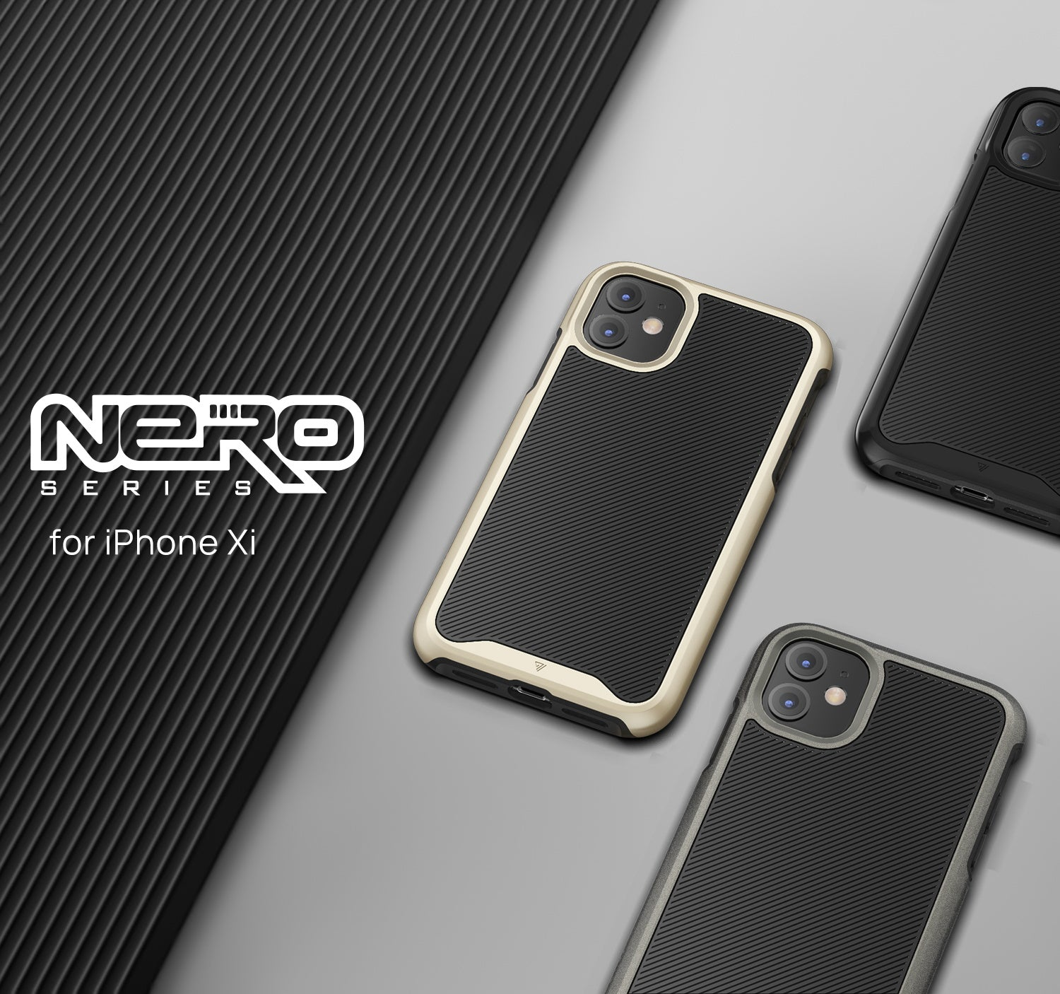 iPhone 11 Case VERTECH Heavy Duty Shockproof Slim Clear Cover For Apple-Black