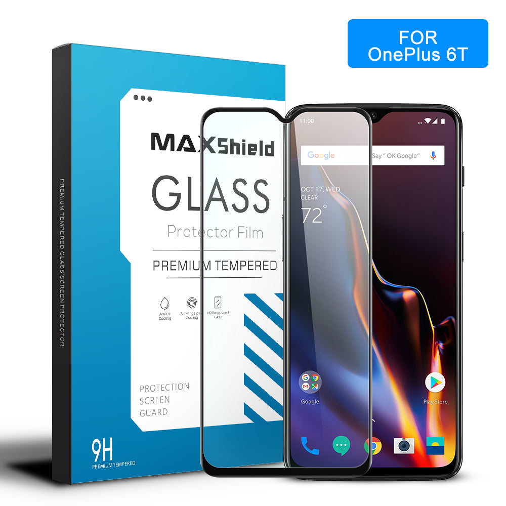 MAXSHIELD 3D Curved Tempered Glass Screen Protector For OnePlus 6T