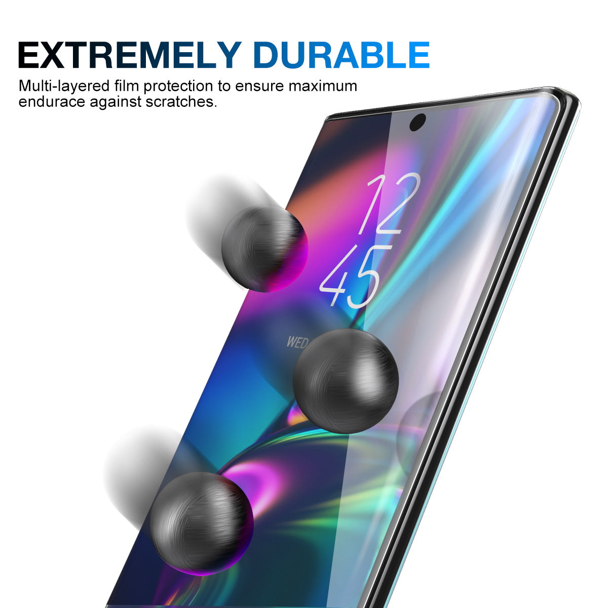 Galaxy Note 10 Screen Protector MaxShield HD Aqua Crystal for Samsung
