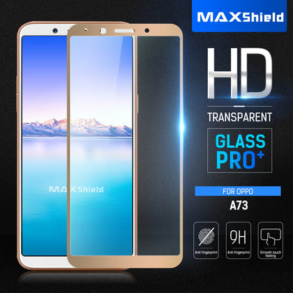 GENUINE MAXSHIELD TEMPERED FULL COVERAGE GLASS SCREEN PROTECTOR FOR Oppo A73