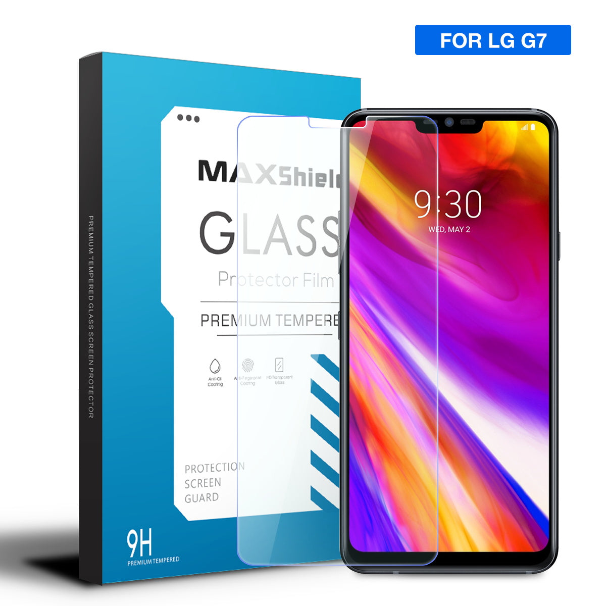 2X MaxShield LG G7 thinq Tempered Glass LCD Screen Protector Film Guard