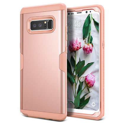 YOUMAKER® Samsung Galaxy Note 8 Slim HEAVY DUTY Shockproof KickStand Case Cover (Rose)