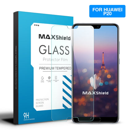 Huawei P20 Screen Protector, Maxshield 9H Tempered Glass Guard