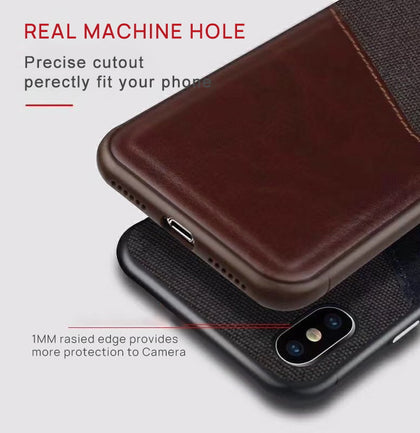 iPhone 7 Wallet Case Leather Slim Layered Card Slot Cover