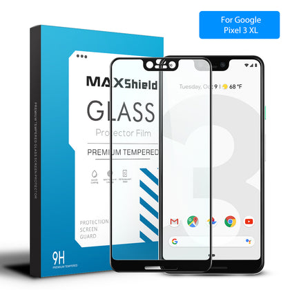 MAXSHIELD 3D Curved Tempered Glass Screen Protector For Google Pixel 3XL