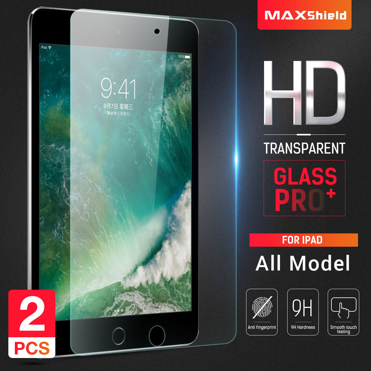 2 X Tempered Glass Screen Protector For Apple iPad Mini 1/2/3