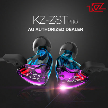 KZ-ZST Colorful Hybrid Banlance Armature with Dynamic In-ear Earphone 1BA+1DD Hifi Headset